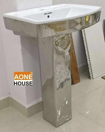 Decorative Silver Plated Wash Basin Pedestal