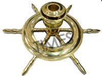 Nautical Ship Wheel Candle Stand