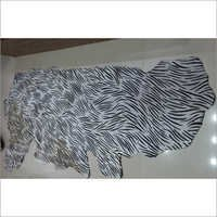 Zebra Print Buffalo Leather