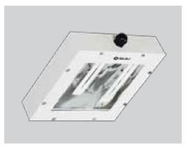 Surface mounting front opening clean room luminair