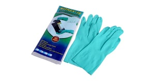 Flock Lined Industrial Nitrile Hand Gloves