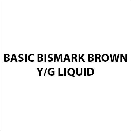Basic Bismark Brown Y G Liquid