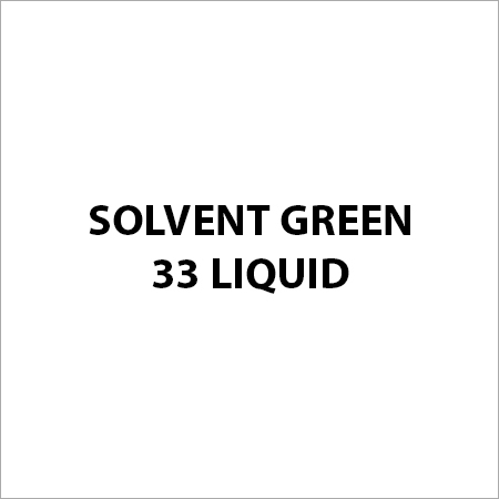 Solvent Green 33 Liquid