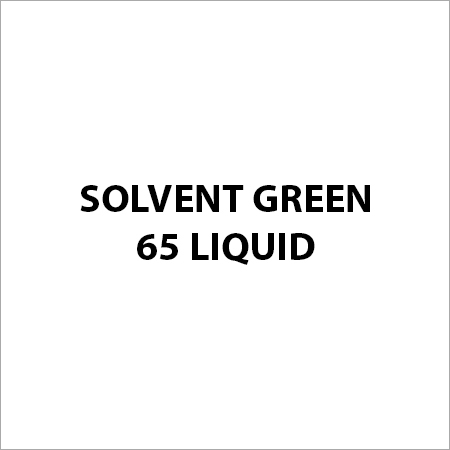 Solvent Green 65 Liquid