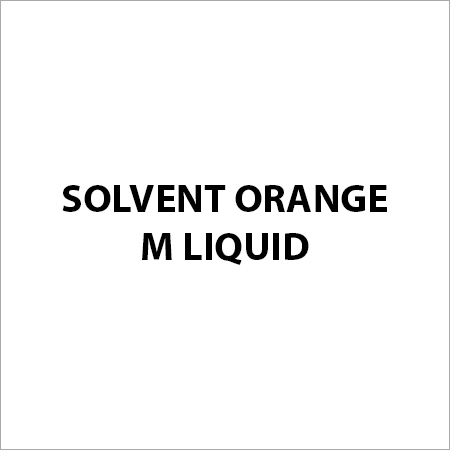 Solvent Orange M Liquid
