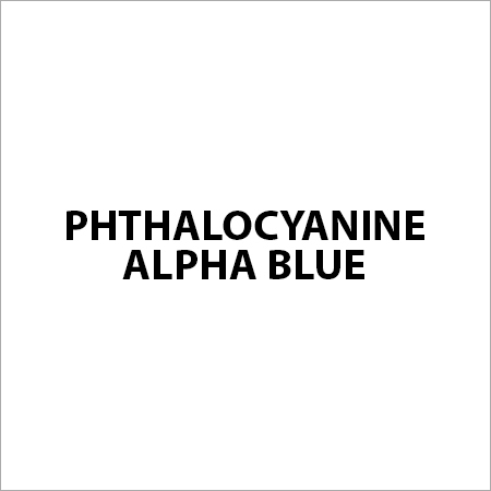 Phthalocyanine Alpha Blue