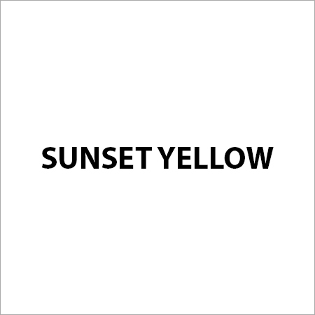 Sunset Yellow FCF