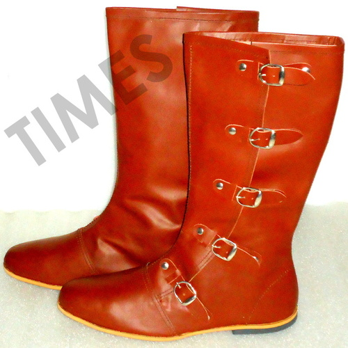 Medieval Red Brown Boot