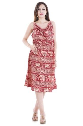 Women Girls Party Wear Halter Dress