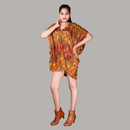 Women Girls Designer Printed Kaftan