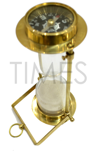 Nautical Compass Hanging Sand Timer