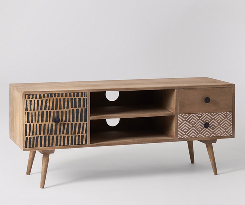 Designer TV Unit with 2 Drawers