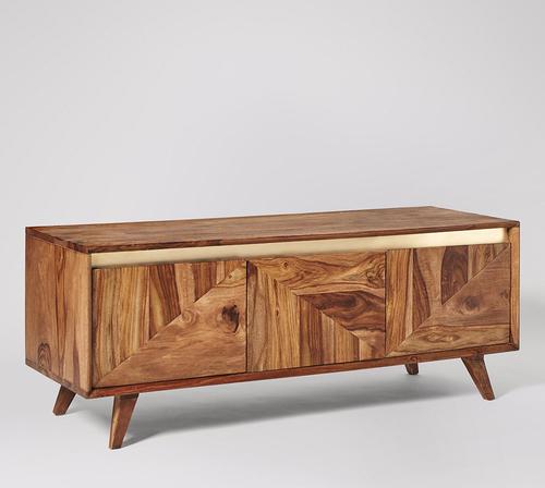 Wooden Designer Tv Unit With Storage
