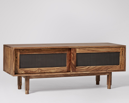 Wooden Tv Cabinet With Sliding Doors