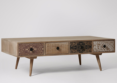 Designer Coffee Table with 4 Drawers
