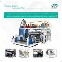 Broad Width Plastic Extrusion Laminating Machine
