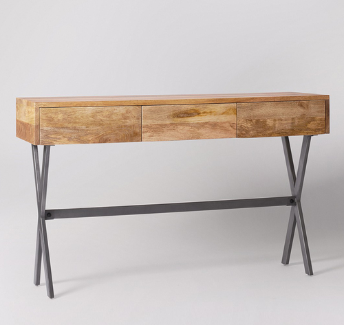 3 drawer designer console table