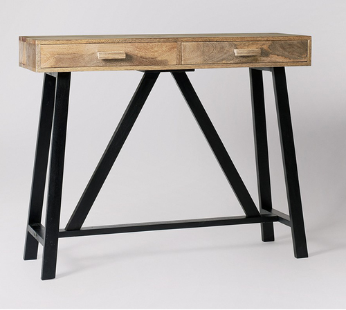Contemporary 2 drawer console table