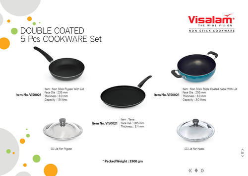 Non Stick 5Pcs Set (Two Layer Coating)