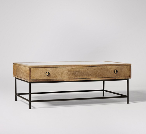 Industrial Coffee Table with Drawer