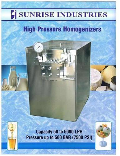 High Pressure Dairy Homogenizer