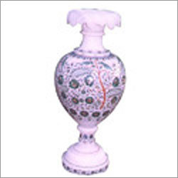 Marble Inlay Vases
