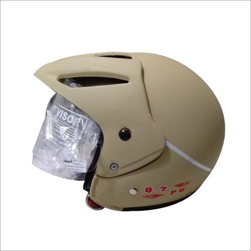 Q7 With Peak Designer Open Face Helmet