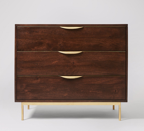 Industrial modern Chest of Drawer with 3 drawers