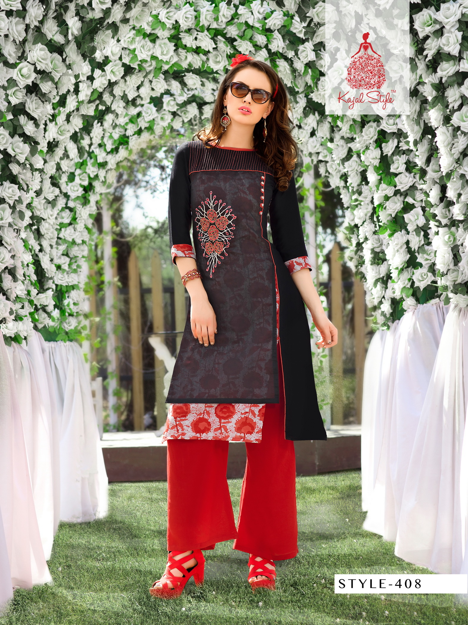 ladies flavour new designer rayon Work  kurtis