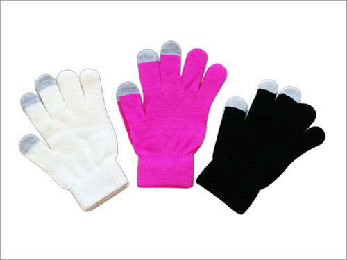 Acrylic Gloves With Conductive Finger Tips