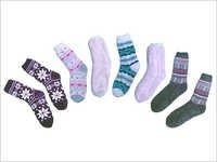 Acrylic Home Socks With Lamb Fleece Linning