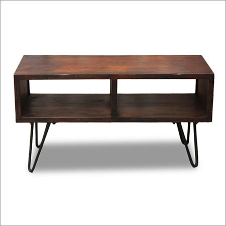 WOODEN OPEN COFFEE TABLE