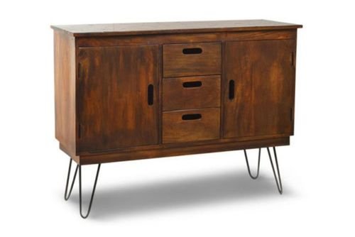 WOODEN 3 DRW. 2 DR. SIDEBOARD