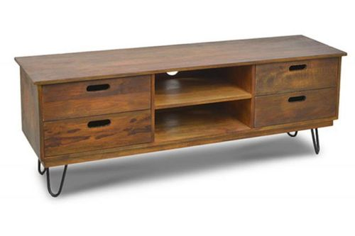 WOODEN 4 DRW. MEDIA UNIT