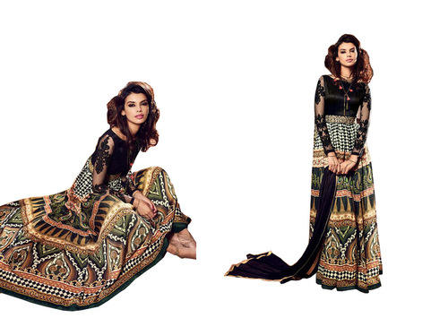 FANCY DESAIGNER PRINTED LONG SUIT