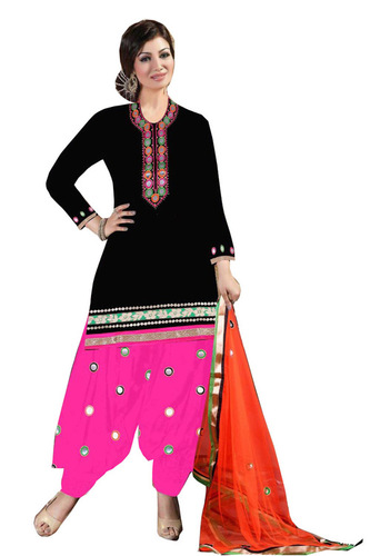 fancy cotton patiyala suit