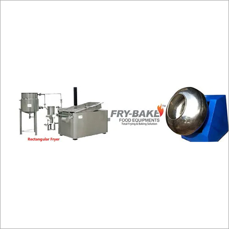Batch Type Pellets Fryums Frying System