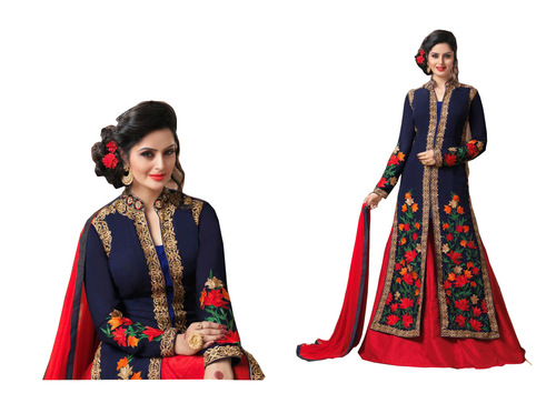 fancy desaigner indowestun lahenga suit