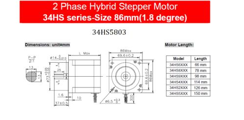 Stepper motor Motionking 34HS5803
