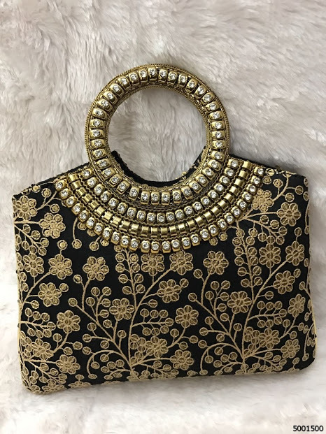 Designer Floral Embroidery Handbags