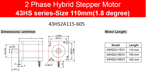 Stepper motor 43HS2A115-604