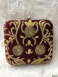 Traditional Designer Box Clutch