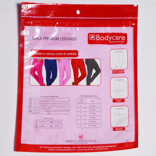 Body Care Zipper BOPP Bag