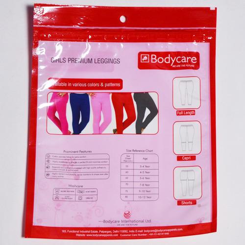 Body Care Zipper BOPP Bag