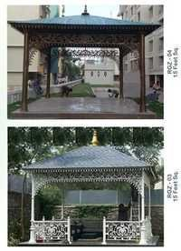 15 Feet Square Gazebo