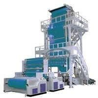 Co-extrusion blown film machine