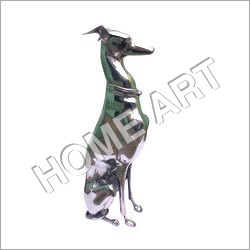 Large Metal Greyhound Statue