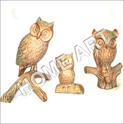 Antique Aluminum Owl Set