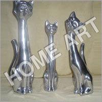 Aluminum Cat Sculpture