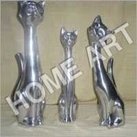 Aluminium Cat Sculpture
